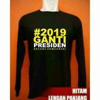 Promo April -- Kaos 2019 Ganti Presiden Secara Demokrasi T-Shirt Baju