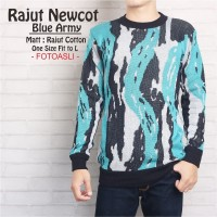 RAJUT NEWCOT BLUE ARMY