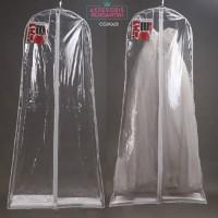 Harga cover pelindung gaun pengantin bridal l penyimpanan baju pesta | antitipu.com