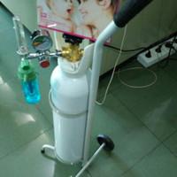 Tabung oksigen 1 kubik (satu set : tabung+troly+regulator)
