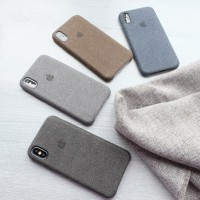Canvas Case Iphone 6/6 Plus/7/7 Plus/8/8 Plus/X/10 Casing Hardcase