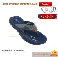 NO 39 CARVIL WIND M NAVY GREY sandal pria jepit flat casual