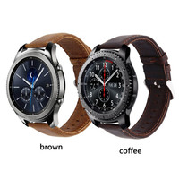 Samsung Gear S3 Classic Frontier Leather Strap Kulit Strap Band