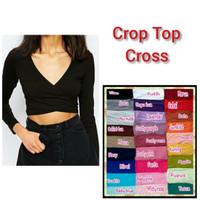 crop top murah bahan spandek