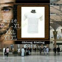 Kaos Dalam Haji Umroh Oblong Lengan Pendek Kantong Sleting AlNuran