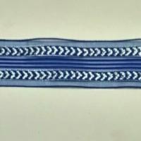 1 Roll Pita Organdi Kombinasi Motif 28mm Biru