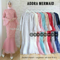 GAMIS DRESS GAUN MERMAID BRUKAT ORGANZA IMPORT KEKINIAN TERMURAH