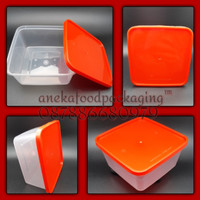 Thinwall/kotak makan/container tahan panas 1.500ml ttp merah