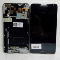LCD + FRAME SAMSUNG GALAXY NOTE 3 3G/N 900 BLACK CONTRAS
