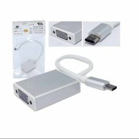 KABEL CONVERTER NEW MACBOOK 12 PRO 13 15 USB C KE VGA PROYEKTOR LCD TV