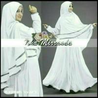 Najibah Syar'i white Busana Muslim wanita warna putih Gamis putih