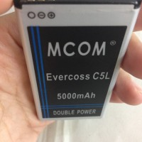Baterai Evercoss C5L 5000Mah Double Power Mcom