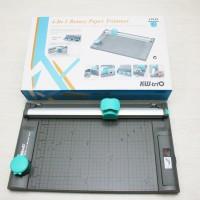 Kw trio 4 in 1 Rotary Paper Trimmer/ alat pemotong kertas/ Cutting mat