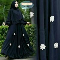 fashion muslim wanita setelan gamis syari syari'i jumbo bigsize hitam