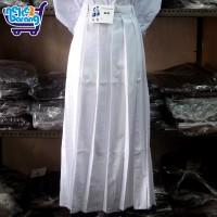 Rok Panjang Rempel Terus Putih - Seragam SMA/SMP - Rok Panjang Putih