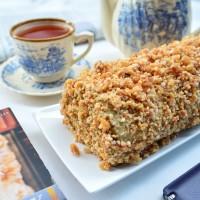 Moka Nougat Roll Cake / Mocha Nougat Roll Cake / Cake Moka Kacang Roll