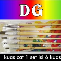 Kuas Cat Lukis 1 set isi 6 pcs
