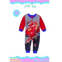 Jumper Cars Racing Pakaian Bayi Cowo New Born Warna Merah Romper Anak