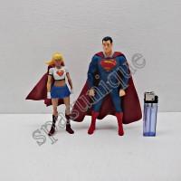 Superman Dan Supergirl Action Figure Set