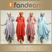 ASLI ORIGINAL ! LUNAR TUNIK SET efandoank baju wanita muslimah hijab