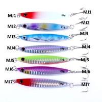 Fishing Spoon Lure Metal Jig Casting Terbaik Metal Jig Lure 7CM 21G