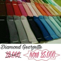 Terlaris (Per 1 meter) Kain Diamond georgette Diamond stretch