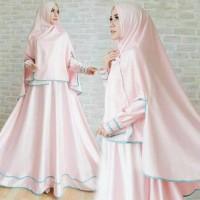 set gamis satin pink gamis baru gaun pesta baju gamis kondangan resmi