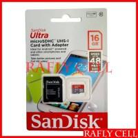 Sandisk Kartu Memory 16 GB Micro SD 16GB Giga Memori HP Asli Original