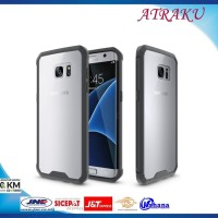 Casing HP Samsung S7 Edge Original Crystal Air Case Bumper Tahan Bant