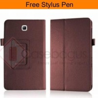 Casing HP Samsung Premium Leather Flip Case Cover Galaxy Tab A 8 T350