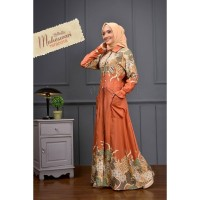 Gamis Maheswari Oribelle Dress Batik Gamis Batik Set Jilbab Segi Empat