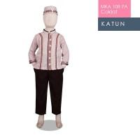 MKA 108 PA Coklat umur (8-10 Tahun ) baju koko anak gambar kartun