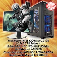 PC Desktop/Gamers LENGKAP Komputer INTEL CORE i3 c2120 [PC+Key+LCD]