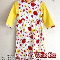 Gamis dan Hijab Anak BEE Size XL - XXXL - Katun Jepang
