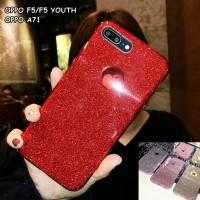 Glitter semi soft case casing hp oppo f5 , f5 youth , a71