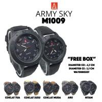 Jam Tangan Army Sky M1009 Kulit Couple Waterresist