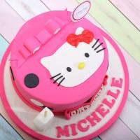 313dbceb7 Kue Hello Kitty / Kue Ulang Tahun / Birthday Cake / Diameter 16 cm