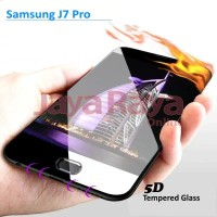 Tempered Glass 5D Samsung J5 Pro Full Cover Screen Edge to edge