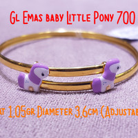 Gelang Emas baby Little Pony 700