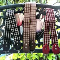 handle tas/tali tas/strap tas motif kotak & grs