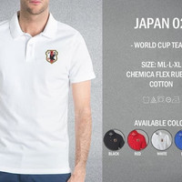 POLO SHIRT JEPANG JAPAN OFFICIAL WORLD CUP 2018 GRADE ORI