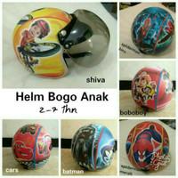 helm retro bogo anak motif kartun laki-laki