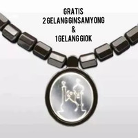 new ginsamyong titanium dark brown - liontin kakbah kalung kesehatan
