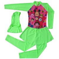 Baju Renang Anak SD Muslim Terusan Karakter Tsum-Tsum