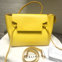 Tas Celine Mini Belt Yellow Yy