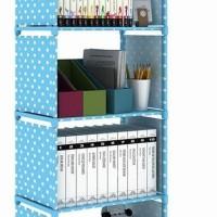 New! Rak Portable Serbaguna 4 Susun Buku Dapur Cabinet Cloth Rack Baju