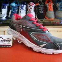 Sepatu Sneakers Pria - Eagle Jaguar Abu Merah - Sepatu Jogging Murah