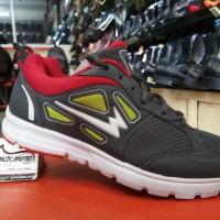 Sepatu Sneakers Pria - Eagle Vortex Abu Merah - Sepatu Jogging Murah