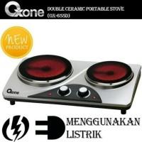Promo Oxone Kompor Listrik 2 Tungku Double Ceramic Stove Ox655D Ox-
