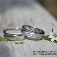 cincin nikah emas putih 18k AuPd   couple